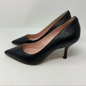 Kate Spade Sonia Black Leather Pointed Toe Pumps 8